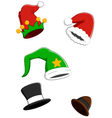 set christmas carnival cap vector image vector image