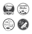 Set of vintage logos labels and badges cleaning vector image vector image