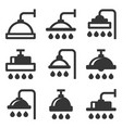 shower icon set on white background vector image