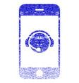 smartphone operator contact head textured icon vector image vector image
