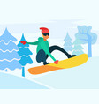 snowboarding extreme winter sports hobman vector image vector image