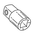 socket adapters icon doodle hand drawn or outline vector image