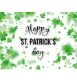st patricks day greeting holiday design vector image
