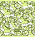 sushi meal green set seamless pattern vector image vector image