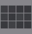 twelve retro gray grid seamless patterns vector image