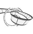 Vector blank film strip