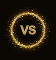 vs glittering symbol in ring vector image