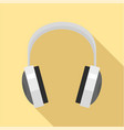 wired headphones icon flat style vector image vector image