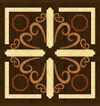 wood art inlay decorative ornament geometric vector image