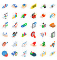 work career icons set isometric style vector image vector image