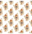 yoga seamless pattern vector image vector image