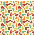 Seamless shoe pattern vector image