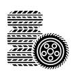 tires - tire service icon vector image
