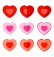 Valentine Flat Icon Heart vector image