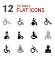 12 disabled icons vector image vector image