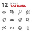 12 look icons vector image vector image