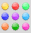 50 percent discount sign icon Sale symbol Special vector image vector image