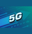 5g high speed internet technology vector image vector image