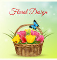 8 march realistic background vector image vector image