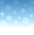 Abstract Christmas background with white snowflake vector image