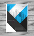 abstract geometric shapes company flyer brochure vector image vector image