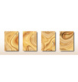 abstract mixed light brown waves and swirls vector image vector image