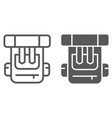 backpack line and glyph icon bag and tourism vector image vector image