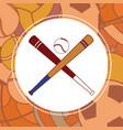 baseball sport bats vector image