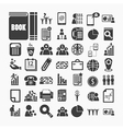 Business icons and Finance icons on White paper vector image vector image