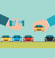 buying new car conceptual vector image vector image