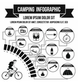 Camping infographic simple style vector image vector image