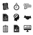 classified document icons set simple style vector image vector image