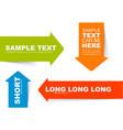color arrow bookmarks templates vector image