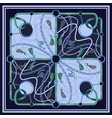 design scarf with belts chain vector image vector image
