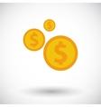 Dollar coin vector image vector image