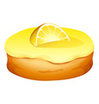 Doughnut with lemon cream vector image vector image