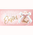 easter shiny egg with silk bow in confetti vector image vector image