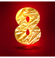 figure 8 made golden crumpled foil vector image vector image