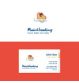 flat skates logo and visiting card template vector image