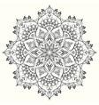 flower decorative mandala design element vector image