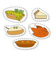 fruits and vegetables flat stickers set vector image