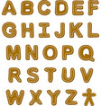 Gingerbread Font vector image