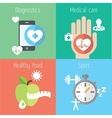 Healthy lifestyle flat stylish set vector image vector image