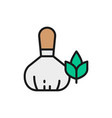 herbal bags for thai massage flat color line icon vector image
