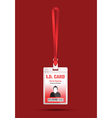 id card man red vector image vector image