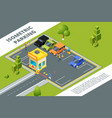 isometric of urban paid parking with vector image