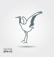 japanese crane bird icon vector image