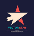 logo star with arrow on a black background vector image vector image