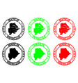 made in botswana rubber stamp vector image vector image