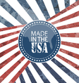 Made In USA Label vector image vector image
